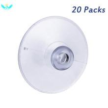 20 Pcs Limpar Ventosa sem Gancho 45mm Cogumelo Ventosa Otário Plástico Transparente Reutilizável Almofadas para Vidro 45mm HTML