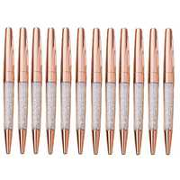 Ручка под розовое золото алмазный кристалл шариковые ручки блестящие золотые ручки Шариковая ручка, студенческие принадлежности, Офисная ...