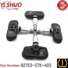 Carro tpms 42753-stk-a04 sistema de monitoramento do sensor de pressão dos pneus para acura mdx tsx rdx honda piloto 2007-2015 pmv-108g 315mhz 3.5l