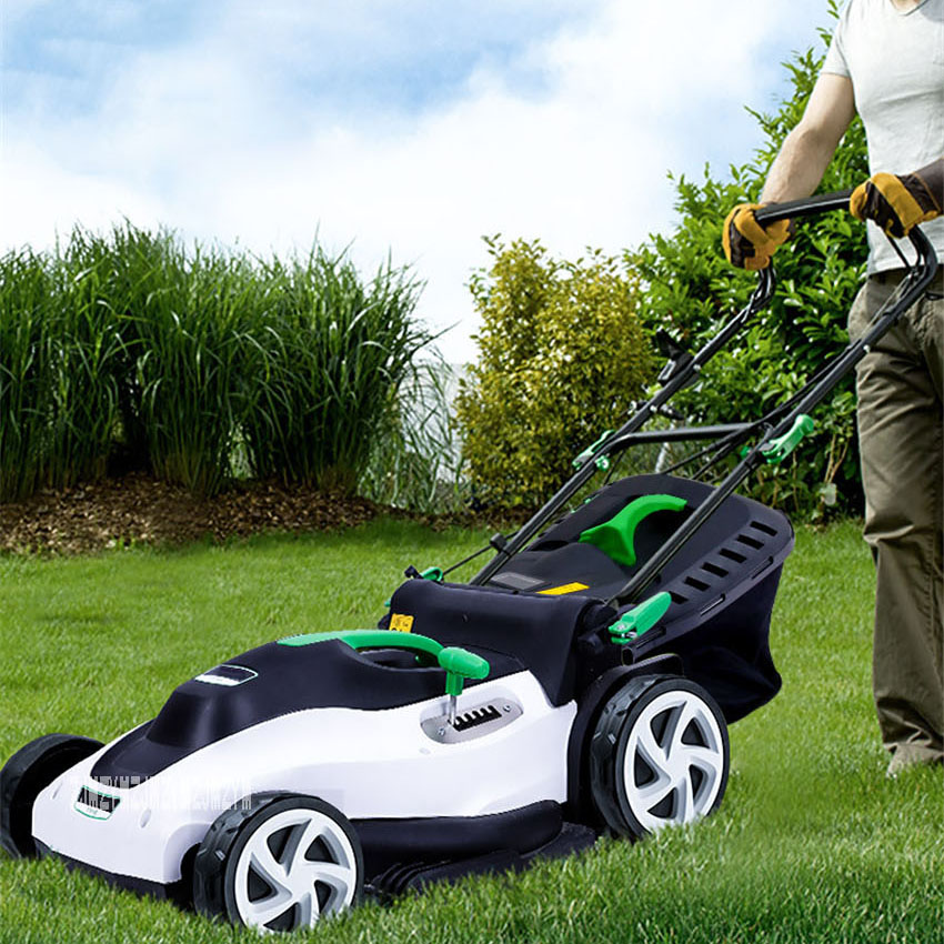 YT5148 Push-type Electric Lawn Mower Small Household Grass Trimmer Garden Tools High Power Lawn Mower 220V 1800W 3200RPM 42CM
