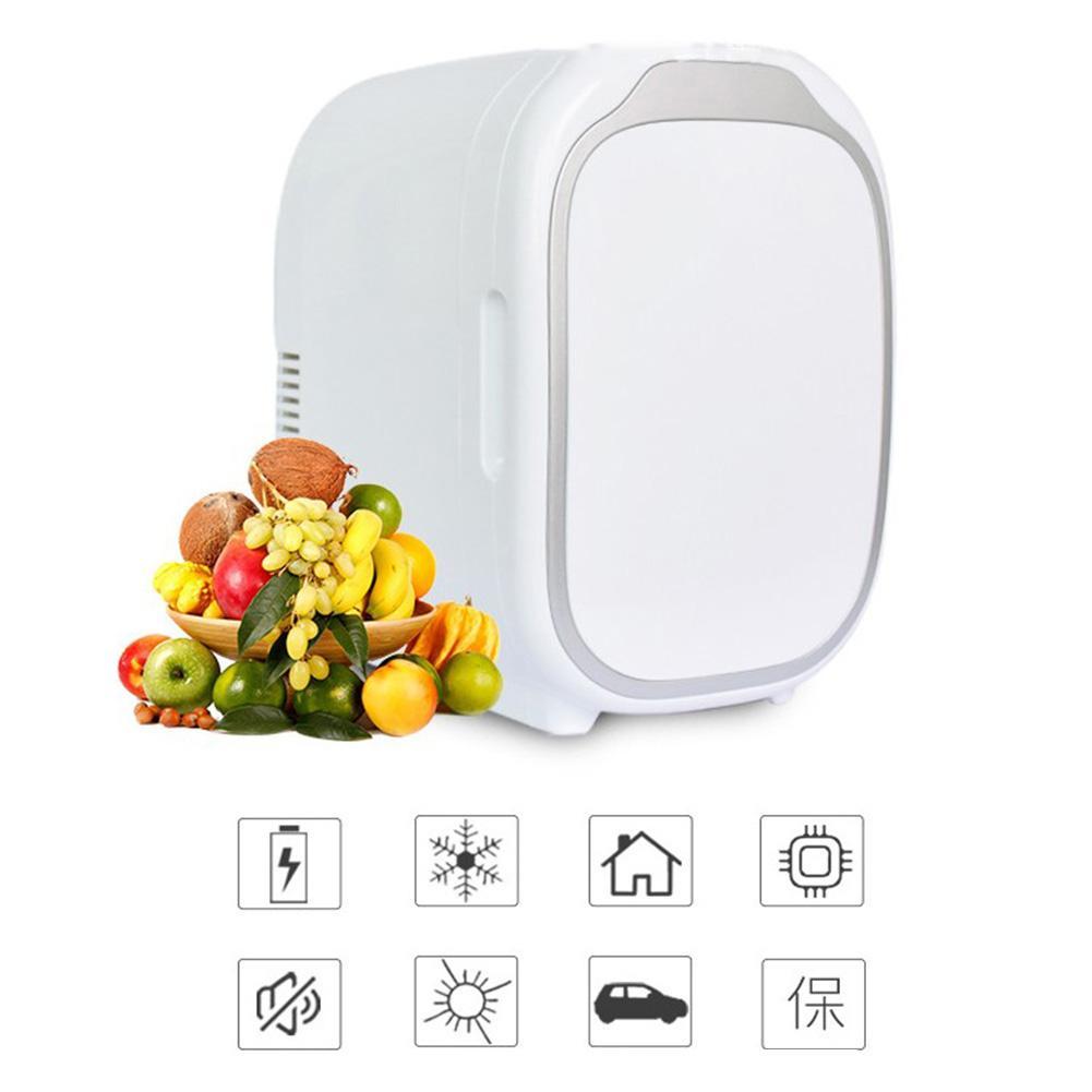 6L Refrigerators Freezer Heater Car Cooler & Warmer Electric Fridge Coolbox Travel Refrigerator 12V Dual-Use Home