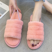 2019 New Winter Indoor Platform Slippers Flat Furry Home Slippers Plush Pink Cute Slippers Unisex Couple Warm Non-Slip Shoes halluci pink cute superstar home slippers women shoes polar fleece winter keep warm pulsh indoor slippers simple couple shoes