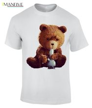 Ted Bear Smoking Bong, Cotton, Crew Neck T-Shirt /ZZ Mens T Shirts Fashion 2019 100% Cotton Short Sleeve O-Neck Tops Tee