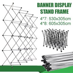 Retractable Iron Flower Wall Stand Frame Banner Presentation Advertisement Display Shelf Holder Kit Wedding Backdrop Decor