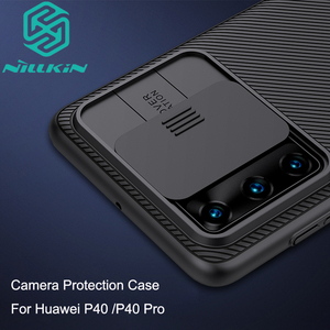 Camera Protection Case For Huawei P40 /P40 Pro NILLKIN Slide Protect Cover Lens Protection Case For Huawei P40 P40 Pro(China)
