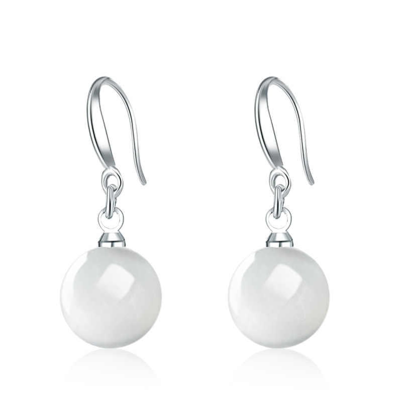 EDS Pearl Earrings korean Fashion Jewelry 925 Silver Trendy Long Drop Earrings For Women
