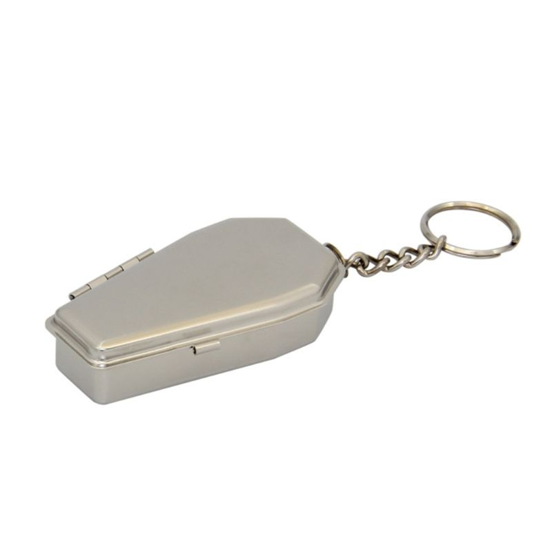Tinplate Coffin Shape Pocket Ashtray Portable Ash Tray With Lids Smoking Ash Box M7DC