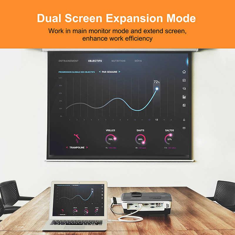 كابينة صغيرة ديسبلايبورت 1.2 DP كابل وصلة بينية مُتعددة الوسائط وعالية الوضوح Thunderbolt كابل وصلة بينية مُتعددة الوسائط وعالية الوضوح محول HDMI ديسبلايبورت كابل 1080P للتلفزيون C054