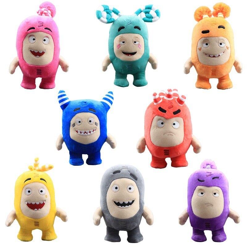 Plush Toy Oddbods Stuffed Soft Cartoon Fuse Jeff Newt Odd ZEE Bods Toy Dolls Gifts For Kids 18cm