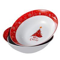 VEWEET  Serie Christmastree  Porzellan Schüssel Set  2 Stück Große Suppe Schüssel 1125 ml  salat Getreide Service für Weihnachten Geschenk Schalen    -