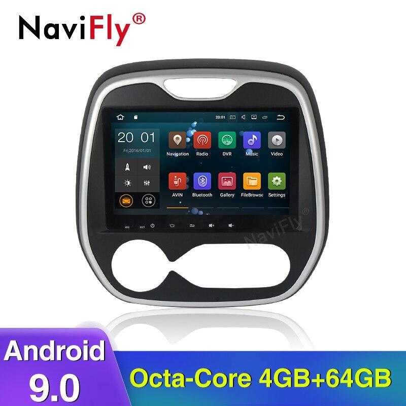 NaviFly Android 9.0 Octa core 4G RAM 64G ROM voiture lecteur multimédia voiture accessoires pour Renault Captur clio samsung 2011 MQ3