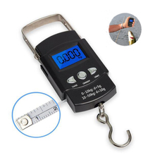 Electronic Balance Hand Scales,Mini Pocket Digital Travel Suitcase Luggage Scale,Precision Steelyard Scales For Fishing 50kg/10g