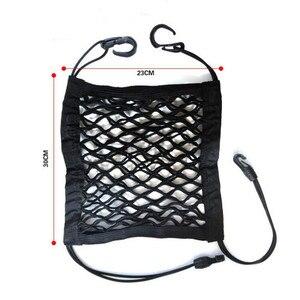 Image 2 - 1Pc รถตกแต่งภายในที่นั่งกลับสุทธิตาข่ายยืดหยุ่นรถเก็บกระเป๋า Pocket กรง Velcro ตารางผู้ถือกระเป๋ารถอุปกรณ์เสริม