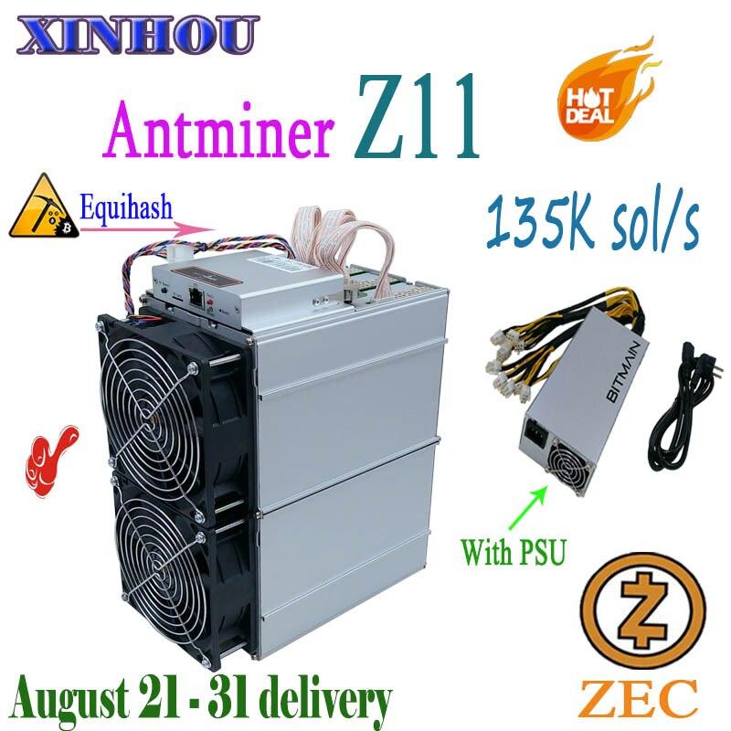 Asic Miner Antminer Z11 135k avec PSU Equihash ZEC ZEN mining mieux que Z9 z9mini B7 Baikal G28 yksminer M3X Innosilicon A9