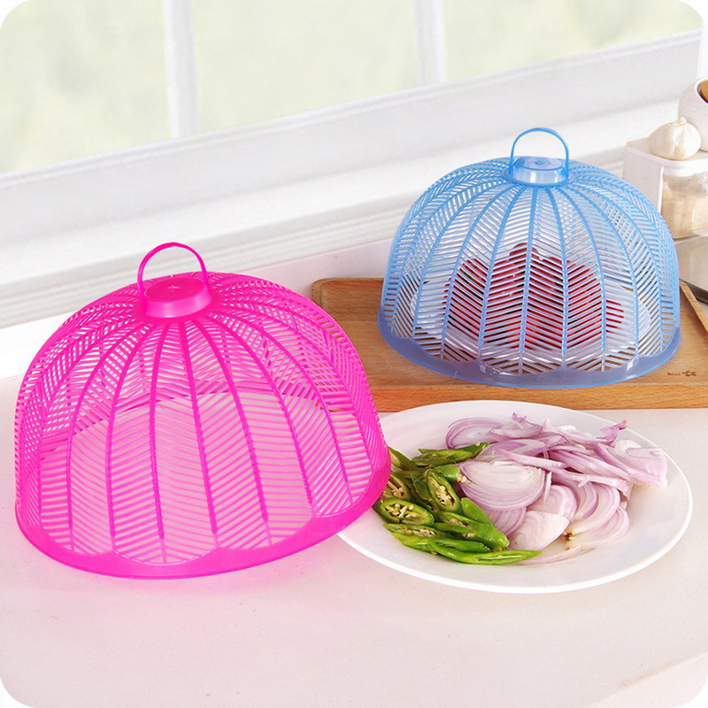 1pc Umbrella Shape Food Covers Picnic Barbecue Party Sports Fly Mosquito Net Tent Table Small Food Cover  26cm