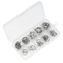 100PCS/Box Snap Retaining Ring Circlip Carbon Steel M8-M18 Assortment Kit Internal External Retaining Circlips C-Clip Washers