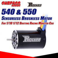 SURPASS HOBBY-Motor sin escobillas Rocket 540 550, eje de Motor a control remoto, 3.175/5mm, para 1/10, camiones de control remoto, Buggy, Traxxas, Trx4
