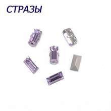 CTPA3bI 4501 Baguette Violet Crystal Strass Needlework Beads For Jewelry Making And Decorating Rhinestones Craft Application