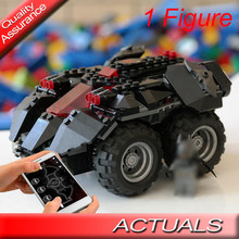 lepinblocks king 07111 Compatible Legoed 76112 Technic App-controlled Batmobile Chariot RC Car Building Blocks Bricks Toys(China)