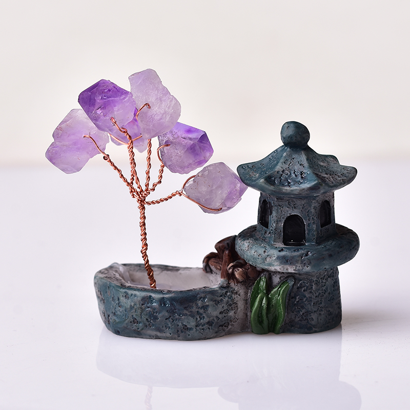 rbol de amatista Natural cristal Mineral adornos para rbol de la vida decoraci n del