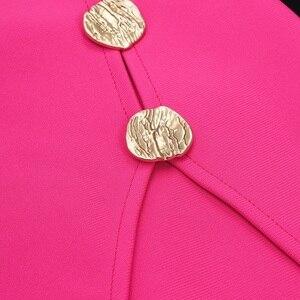 Image 5 - VC 2020 tout livraison gratuite nouveau à la mode asymétrique Sexy une épaule à manches longues bouton conception célébrité fête robe de pansement