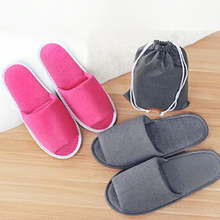 2021 New Simple Home Slippers Men Women Hotel Travel Spa Portable Folding House Disposable Home Guest Indoor Slippers Big Size