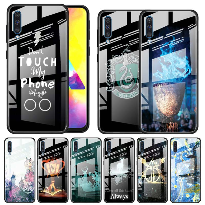 Potter Love Tempered <font><b>Glass</b></font> <font><b>Case</b></font> for <font><b>Samsung</b></font> Galaxy A10 A20 A30 A40 <font><b>A50</b></font> A70 A51 A71 A81 A91 A31 A41 M31 M51 Funda Capa image