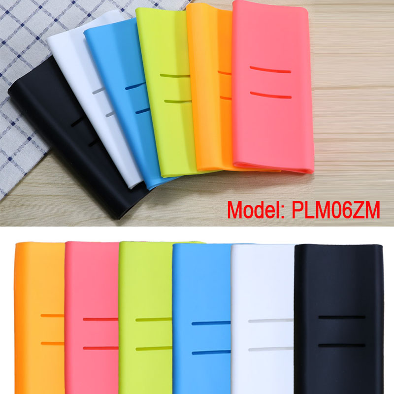 Silicone Protective Case For Xiaomi Power bank Case 20000mah 2C Rubber Cover Shell Skin Protector Sleeve Power Bank Accessory