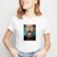 House MD Women T-Shirt Dr House Use it Funny Tops White Short Sleeve Tee Shirt Fashion Female