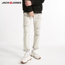 JackJones Herrenmode Trendy Weiß Casual Jeans Stil 218432511(China)