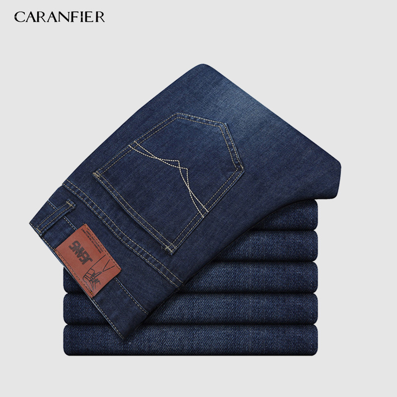 CARANFIER Size38 40 Brand New Men's Slim Elastic Jeans Fashion Business Classic Style Skinny Jeans Denim Pants Trousers Male