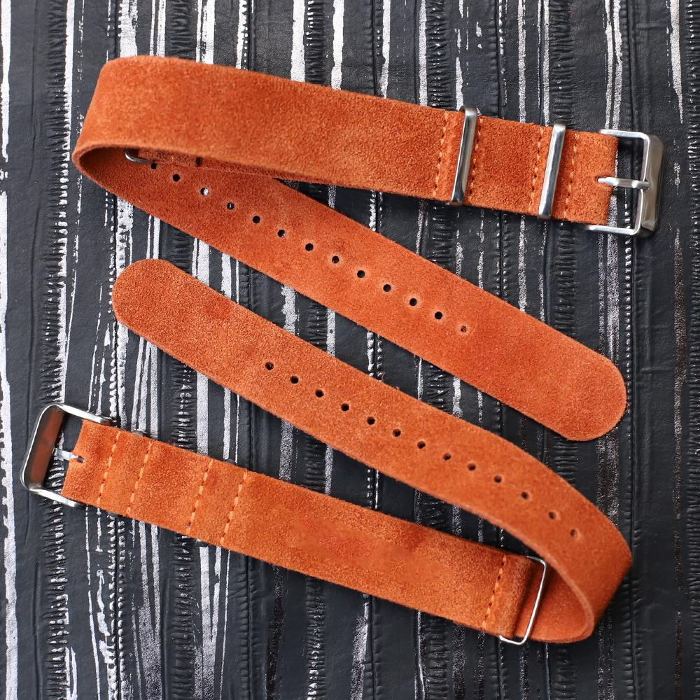 Genuine Leather Watch Strap With Rivets 18mm 20mm 22mm Accessories High Quality Colorful Watchband #D