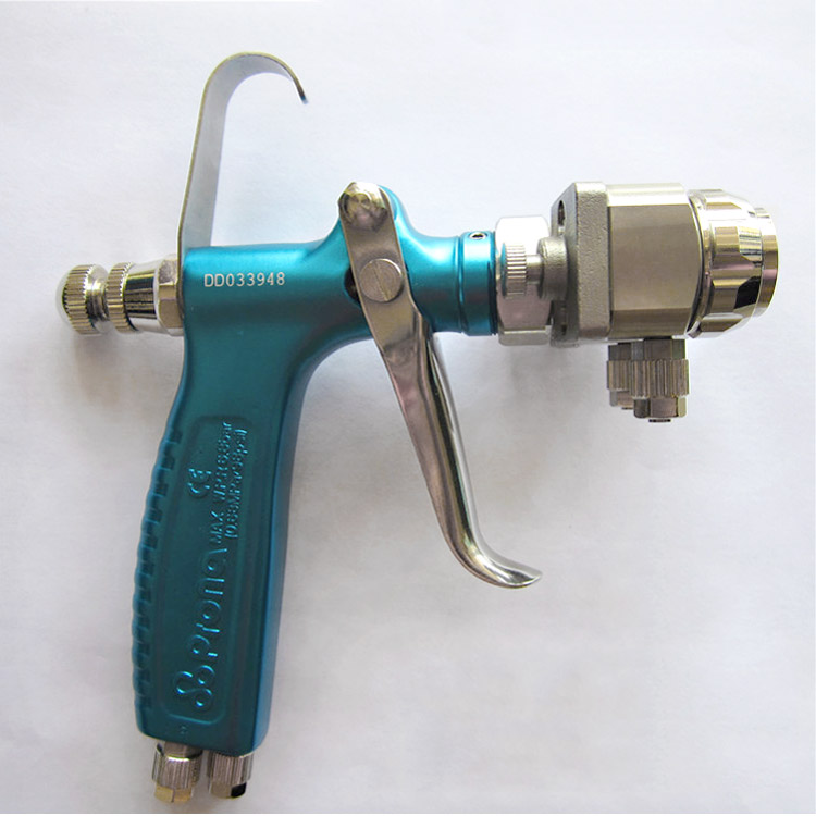 Hf770419de8a64340b7e1d133327bcbc5J - Prona MRS2-2R dual head manual nano spray gun, double nozzle spray gun , free shipping, two head gun Chrome plating mirror spray