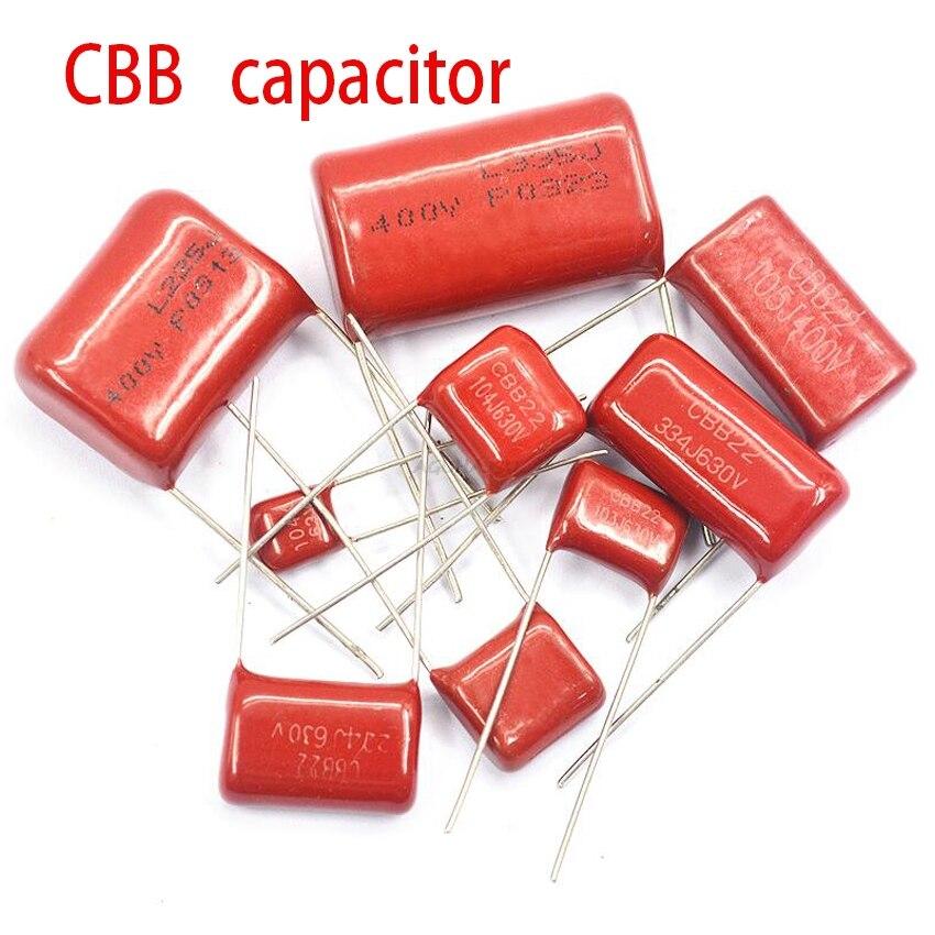 10PCS 1500V104J 630V684J 250V475J 250V475J 630V224J 400V684J 63V105J 630V104J  400V105J CBB Polypropylene Film Capacitor