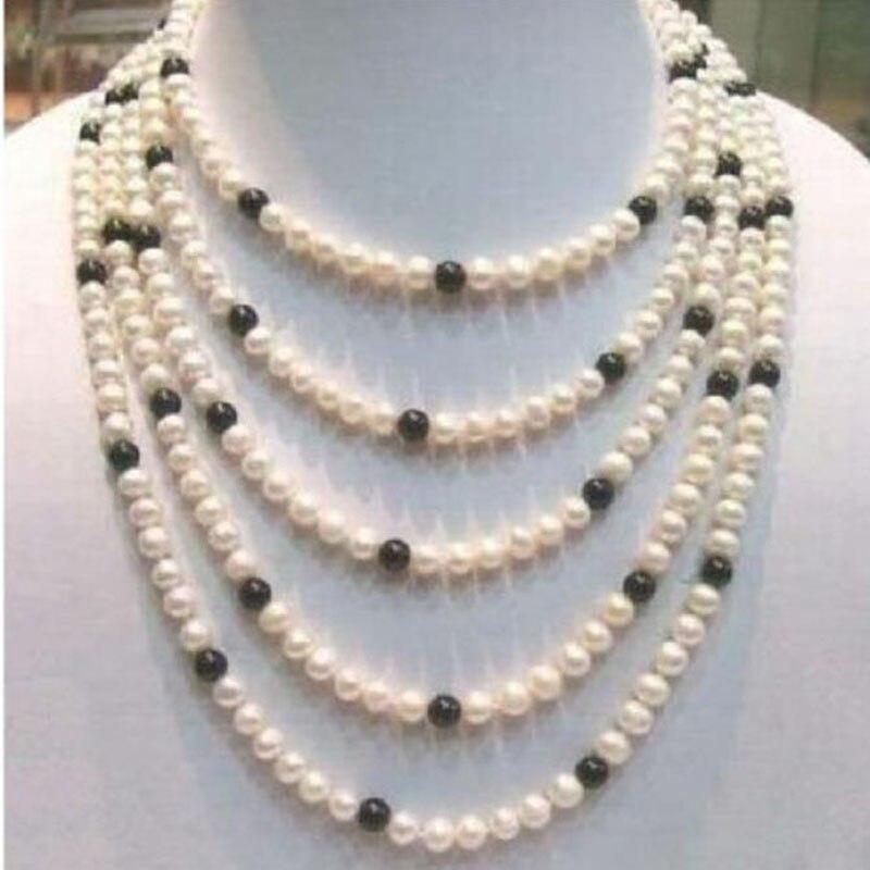 8 9 мм очаровательное Ожерелье AKOYA из белого черного жемчуга 14 k/20 с застежкой из желтого золота