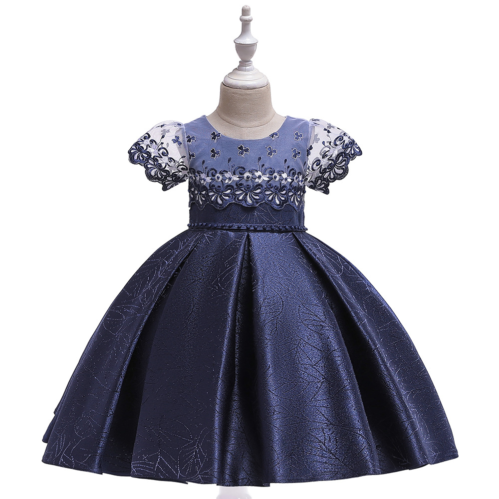 2019 New Style CHILDREN'S Dress Princess Dress Holiday Performance Catwalks Dresses Of Bride Fellow Kids Satin Tutu GIRL'S Gown