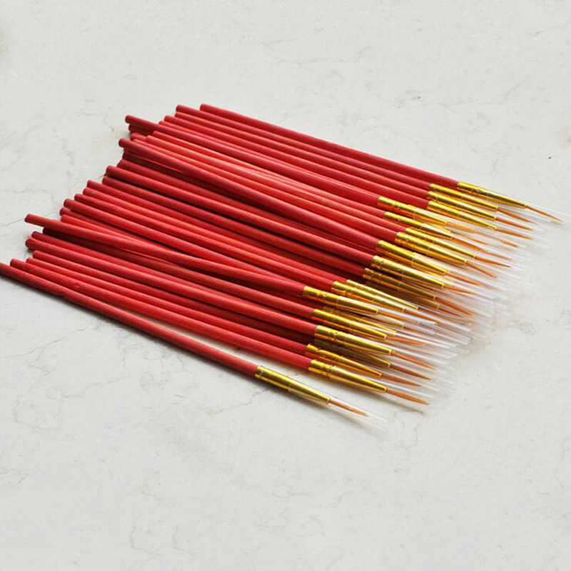 10PCS Hook Line Pen Watercolor Pointed Head Paint Brushes Fineliner Art Drawing Brushes For School Student Painting Art Supplie