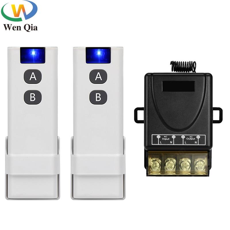 433 МГц переключатель дистанционного управления RF умный беспроводной AC 110 В 220 В 30A приемник передатчик с креплением для освещения водяного насоса двигателя|Выключатели|   |