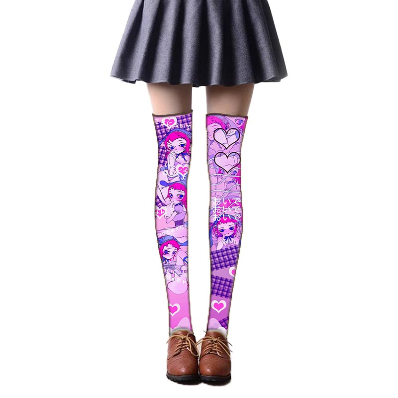 Game Lolita Stockings Over Knee Sexy Thigh Stocking Cute Novelty Velvet Stockings Cosplay Accessories 5SW43