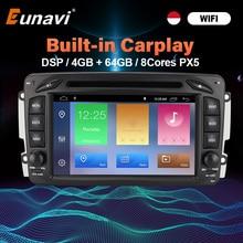 Eunavi 2 Din Android 10 Auto DVD Für Mercedes Benz CLK W203 W208 W209 W210 W463 Vito Viano 7 zoll bildschirm Auto Radio GPS Navigation