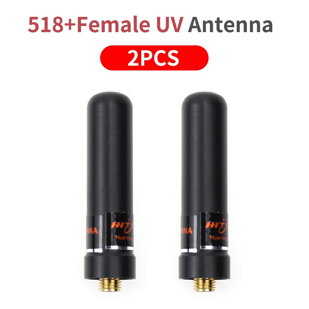 2x 2 Way Radio Antenna, 145/435MHz SMA Female High Gain HH-S518+ UV Dual Band Short Antenna for Baofeng UV-5R Mobile Ham Radio