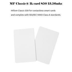 Image 2 - Cartão ic mf s50 clássico 1k m1, cartão pçs/lote mhz, proximidade inteligente 13.56mm para acesso, 10 0.8 rfid sistema de controle is14443a