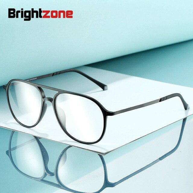 טונגסטן פחמן פלסטיק פלדה שני גשר קוצר ראיה מרשם אופטי משקפיים מסגרת גברים נשים עם הדגמה עדשת Oculos