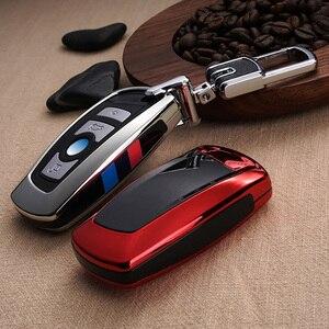 Image 3 - Fashion ABS Carbon fiber Car Remote Key Case Cover For BMW 1 2 3 4 5 6 7 Series X1 X3 X4 X5 X6 F30 F34 F10 F07 F20 G30 F15 F16