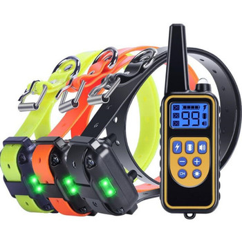 Electric Dog Training Collar Pet Remote Control Waterproof Rechargeable with LCD Display for All Size Shock Vibration Sound new 800m electric dog training collar remote control waterproof rechargeable with lcd display for all size shock vibration sound
