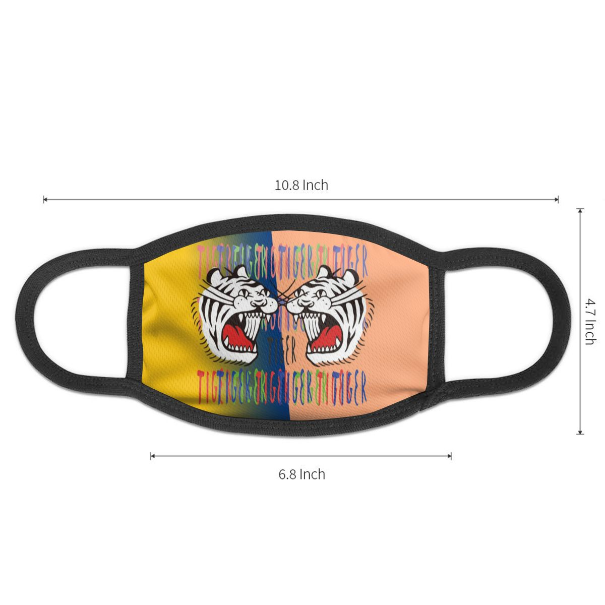 NOISYDESIGNS Women Men Dustproof Mouth Mask Hit Color Tiger Pattern Letter Anti-Dust Facial Cover Breathable Face Mask Custom