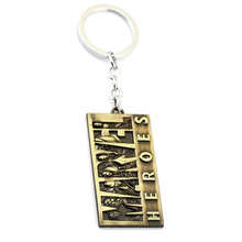 New Hot Spider man Marvel Hero Logo Keychain Keyring Iron Man Tag Pendant Keychain Avengers Thor Hammer Fashion Key Chains Men