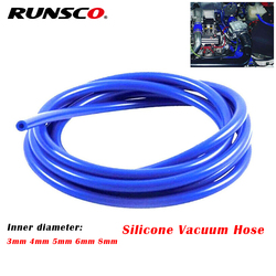 Universal 3mm/5mm/4mm/6mm/8mm Auto Car Vacuum Silicone Hose Racing Line Pipe Tube Red Blue Black