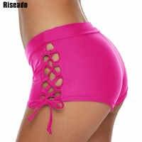 Riseado сексуальное бикини со шнуровкой, нижнее белье для мальчиков, купальники для женщин 2020, купальники, однотонная летняя пляжная одежда, ку...