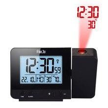 Проекционные часы 3531 черный и белый с рисунком будильник с температурой времени проекционный светодиодный экран Будильник USB Charg